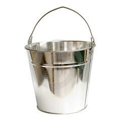Galvanized iron dustbins and buckets galvanized iron for Galvanized well bucket